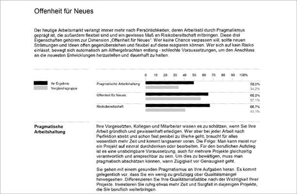 Die Inhalte und Auswertung des geva-tests® für die Berufswahl für Erwachsene
