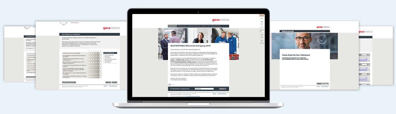 Der Fragebogen zum geva-Jobsat-Monitor besteht aus zwei Teilen