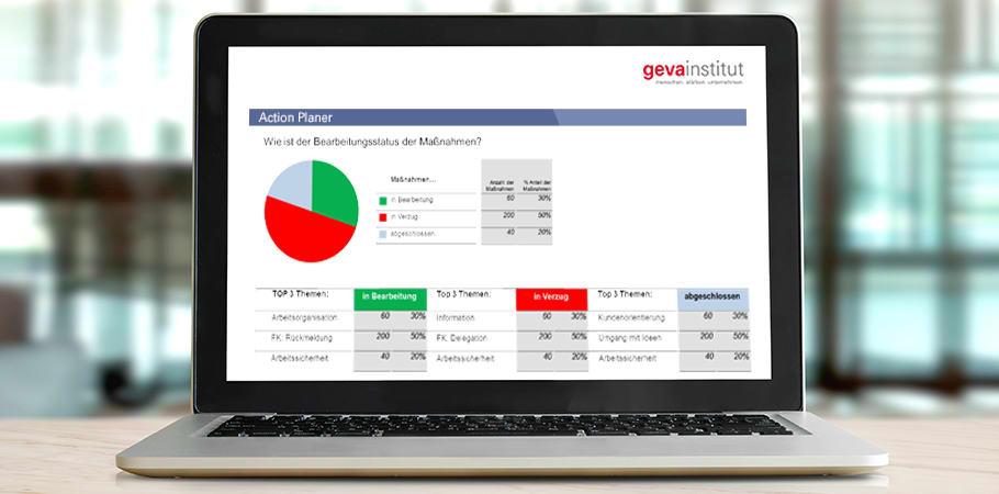 geva-Mitarbeiterbefragung mit dem Action-Planer