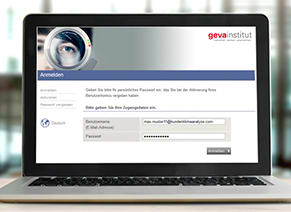 Download-System Mitarbeiterbefragung geva-institut