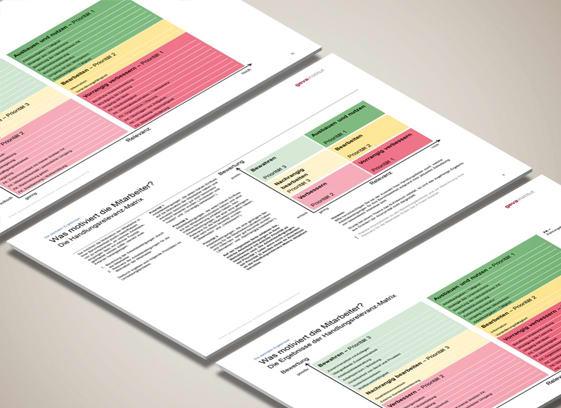 Auswertung Mitarbeiterbefragung: Die Handlungsrelevanz-Matrix des geva-instituts