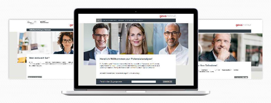 Das geva-test® System Potenzialanalyse wird online durchgeführt