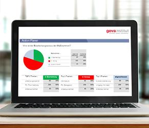 Nutzen Sie den Action-Planner des geva-instituts für den Follow-up-Prozess